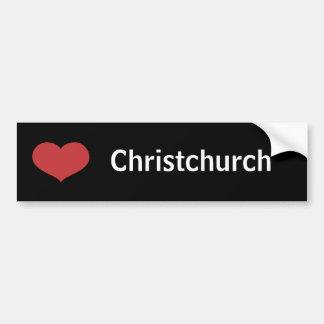 Coeur Christchurch Autocollant De Voiture
