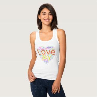Coeur coloré de l'amour, de la joie, de la paix, débardeur