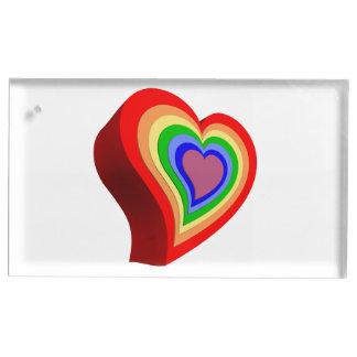 Coeur coloré porte-photos