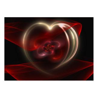 Coeur curatif carte de visite grand format