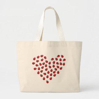 Coeur d amour de coccinelle sac fourre-tout