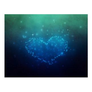 Coeur d étoiles - carte postale