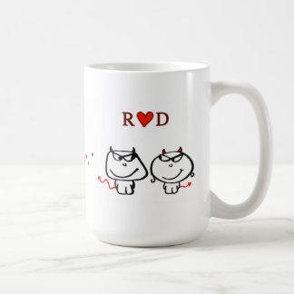 """""""Coeur D (une initiale de R seulement) """" Mug"""