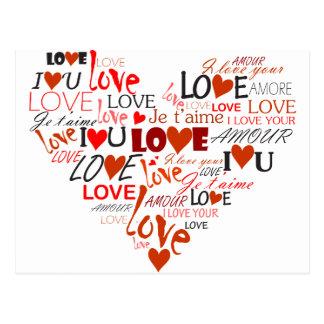 Coeur d'amour carte postale