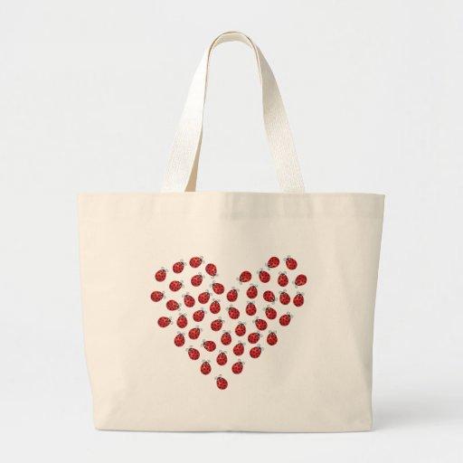 Coeur d'amour de coccinelle sac fourre-tout