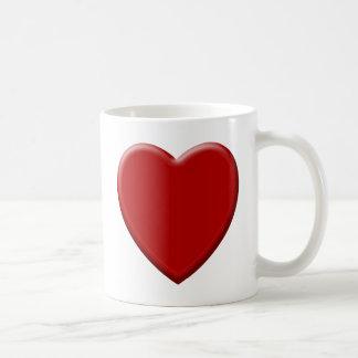 Cœur d'amour rouge mug
