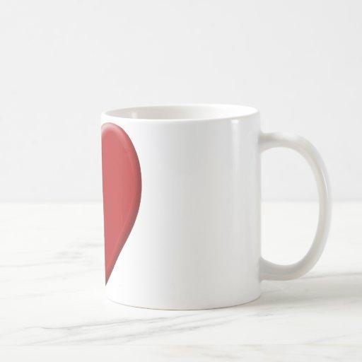 Cœur d'amour rouge tasse à café