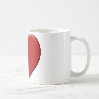 Cœur d'amour rouge valentin mug blanc
