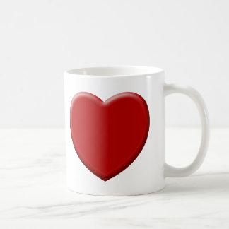 Cœur d'amour rouge valentin tasse
