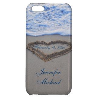 Coeur dans la date de Special de sable de plage Coques Pour iPhone 5C