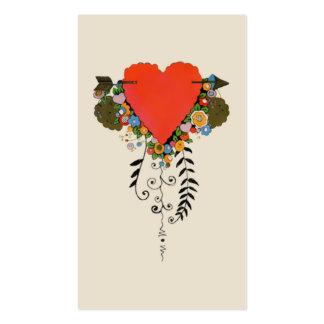 coeur de 30s Valentine en rouge Carte De Visite