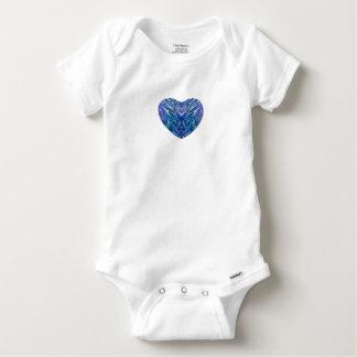 Coeur de Bling de zèbre T-shirt