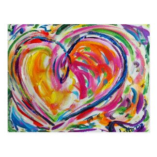 Coeur de carte postale de joie