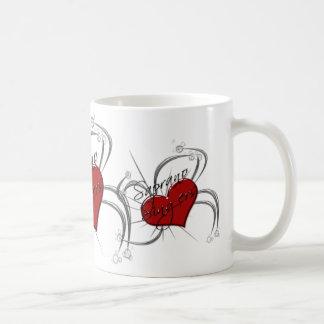 Coeur de chanteurs de Saprono d'amour Mug
