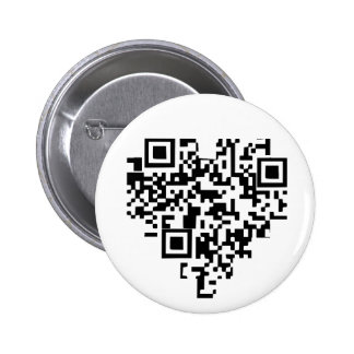Coeur de code de QR Badge Rond 5 Cm