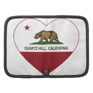 coeur de colline de quartz de drapeau de la Califo Agendas