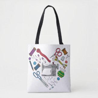 Coeur de couture Fourre-tout d'outils Tote Bag