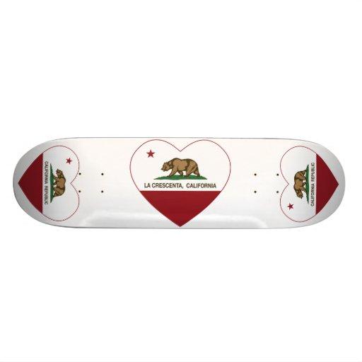 coeur de crescenta de La de drapeau de la Californ Planche À Roulette