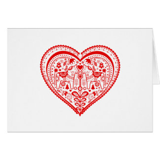 Coeur de Dala Carte De Vœux
