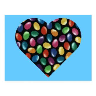 Coeur de dragée à la gelée de sucre carte postale