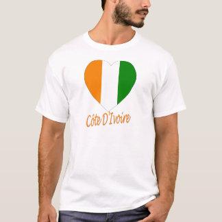 Coeur de drapeau de Cote D'Ivoire T-shirt