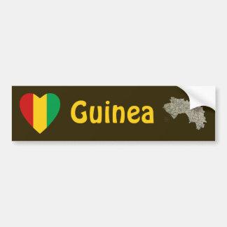 Coeur de drapeau de Guinée-Conakry + Adhésif pour  Autocollants Pour Voiture