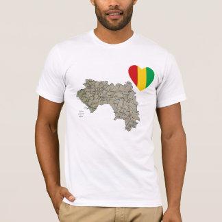 Coeur de drapeau de Guinée-Conakry et T-shirt de