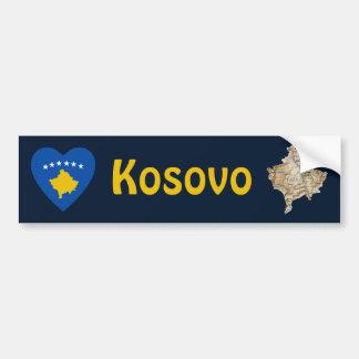 Coeur de drapeau de Kosovo + Adhésif pour pare-cho Autocollants Pour Voiture