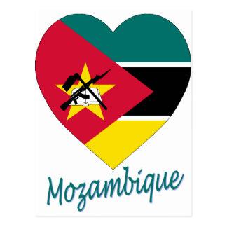 Coeur de drapeau de la Mozambique Carte Postale