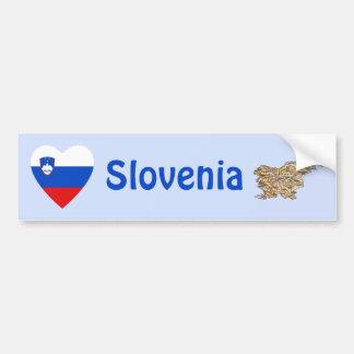 Coeur de drapeau de la Slovénie + Adhésif pour par Autocollant Pour Voiture