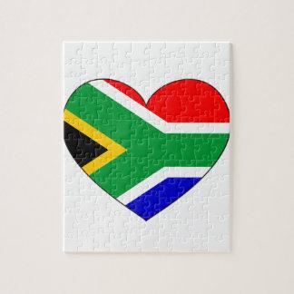 Coeur de drapeau de l'Afrique du Sud Puzzle