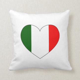 Coeur de drapeau de l'Italie Coussin