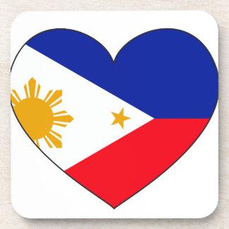 Coeur de drapeau de Philippines Sous-bocks