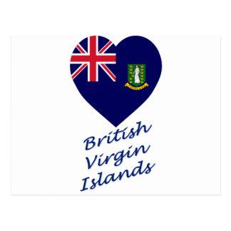 Coeur de drapeau des Îles Vierges britanniques Cartes Postales