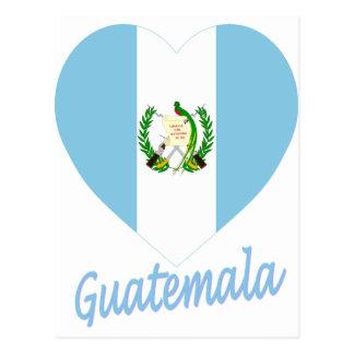 Coeur de drapeau du Guatemala Cartes Postales