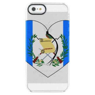 Coeur de drapeau du Guatemala Coque iPhone Clear SE/5/5s