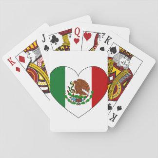 Coeur de drapeau du Mexique Jeu De Cartes