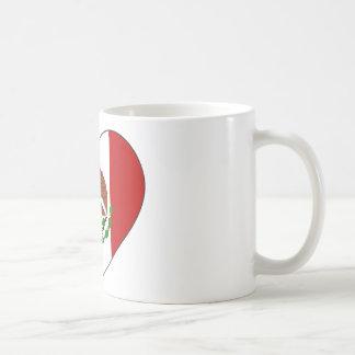 Coeur de drapeau du Mexique Mug