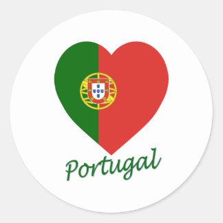 Coeur de drapeau du Portugal Autocollants