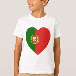 Coeur de drapeau du Portugal T-shirt