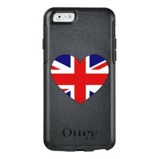 Coeur de drapeau du Royaume-Uni Coque OtterBox iPhone 6/6s