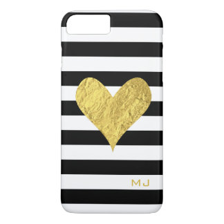 Coeur de feuille d'or coque iPhone 7 plus