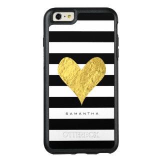 Coeur de feuille d'or coque OtterBox iPhone 6 et 6s plus