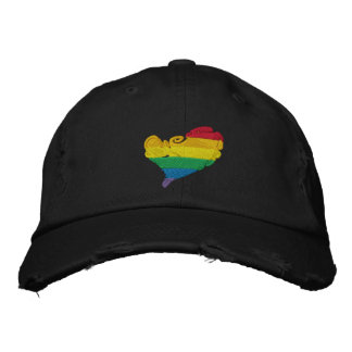 Coeur de fierté casquette brodée