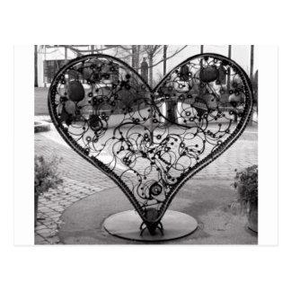 Coeur de fil carte postale