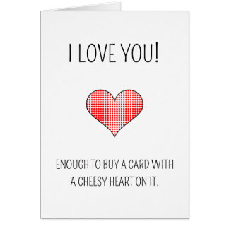 Coeur de fromage - carte de Saint-Valentin