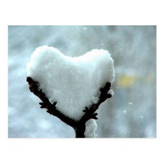 Coeur de glace carte postale