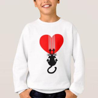 Coeur de griffe de chat sweatshirt