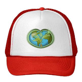 Coeur de jour de la terre casquette trucker