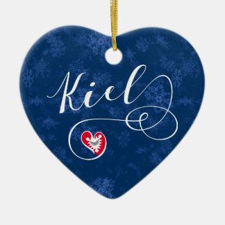 Coeur de Kiel, ornement d'arbre de Noël, Allemagne